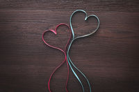 Ribbon formed heart shape