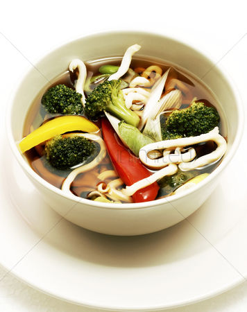 Ready to eat : A bowl of udon noodles