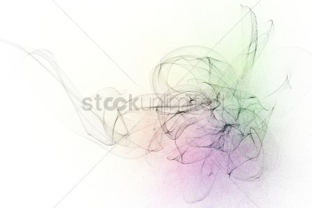 Abstract : Abstract design with multi-colored lines