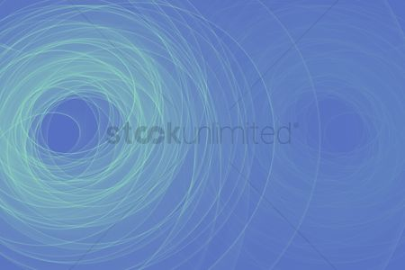 Blue background : Abstract design with multi-colored lines