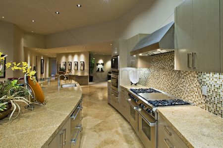 Interior : Architecturally designed kitchen and living area