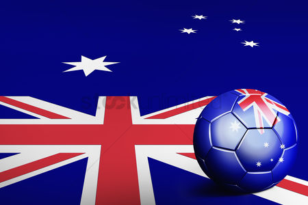 Nationality : Australia flag with soccer ball