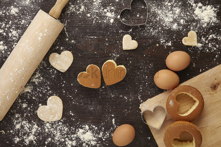 Conceptual : Baking with love concept