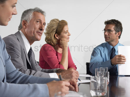 Leadership : Business colleagues in conference meeting