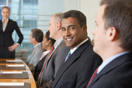 Leadership : Business meeting in conference room