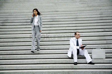 Staircase : Business people at the staircase