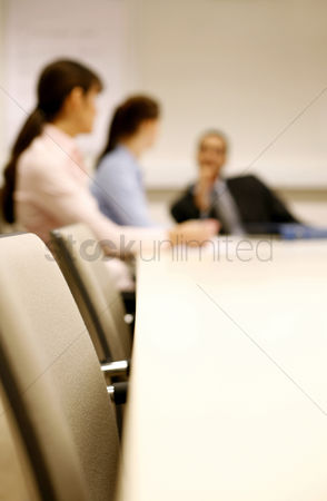 Leadership : Business people having discussion in the conference room