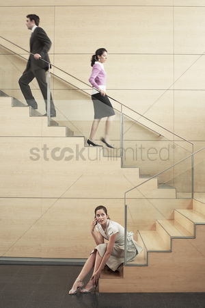 Stairs : Business people on stairway