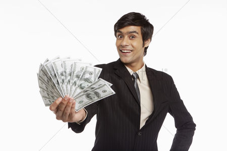 Masculinity : Businessman holding money