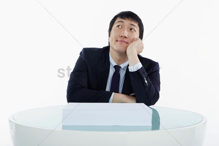 Daydream : Businessman sitting and contemplating