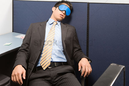 Interior : Businessman sleeping