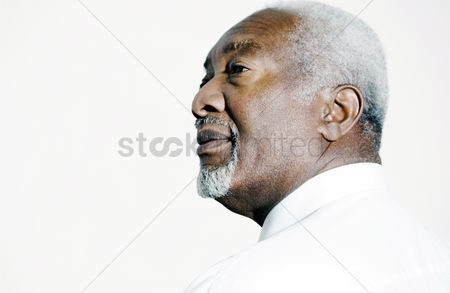 People : Businessman staring blankly at a space