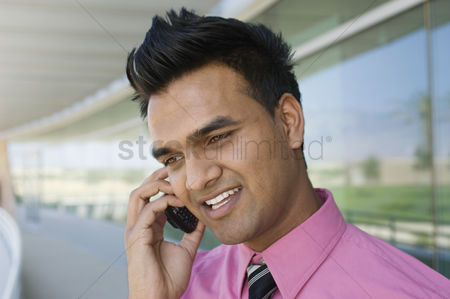 Cellular phone : Businessman talking on a cell phone