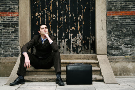 Relaxing : Businessman thinking