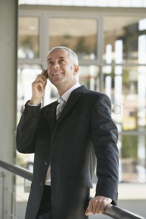 Cellular phone : Businessman using cell phone
