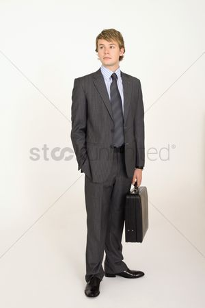 Pocket : Businessman with briefcase