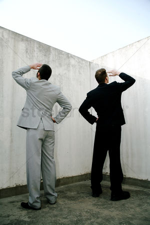 Loss : Businessmen searching for something