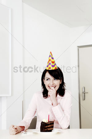 Celebrating : Businesswoman celebrating her birthday