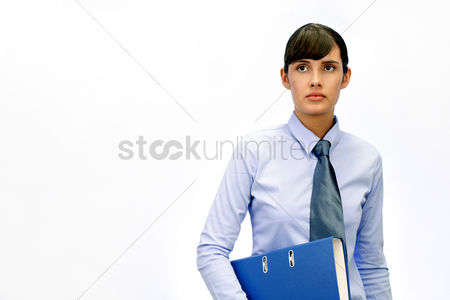 Sales person : Businesswoman holding a document