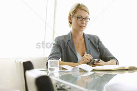 Businesswomen : Businesswoman using pda