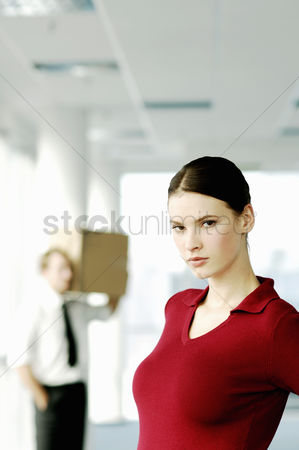 Instruction : Businesswoman with serious look