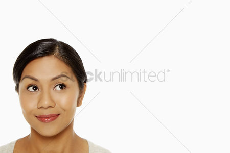 Bidayuh ethnicity : Cheerful woman smiling