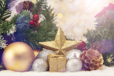 Decor : Christmas theme decoration with copy space
