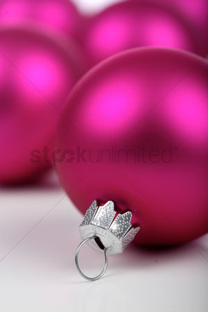 Decor : Christmass bauble on white background