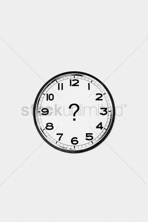 Wondering : Clock with a question mark