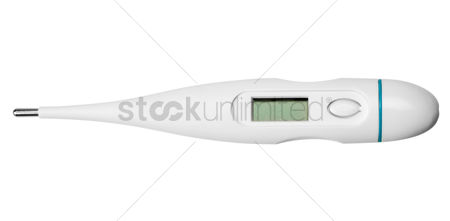Thermometer : Close-up of a digital thermometer