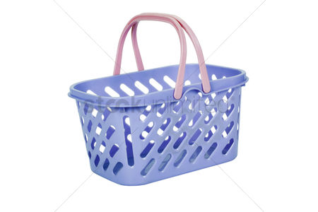 Shopping background : Close-up of a plastic basket