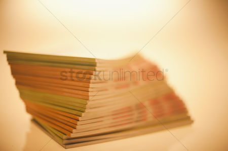 Collection : Close-up of a stack of books