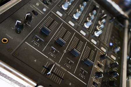 Dance : Close up of audio console