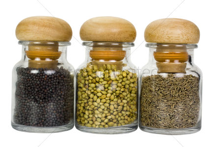 Collection : Close-up of spice containers