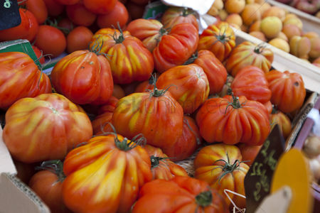 Supermarket : Close-up of tomatoes on display in store