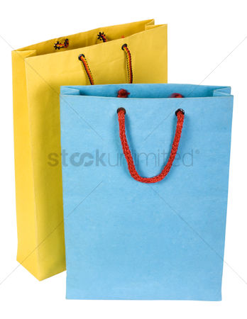Shopping background : Close-up of two shopping bags