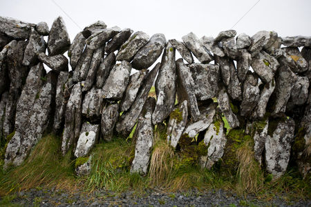Rock wall : Close-up view of stone wall ireland