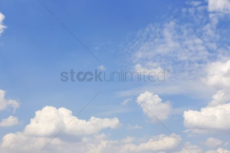 No people : Clouds against the clear blue sky