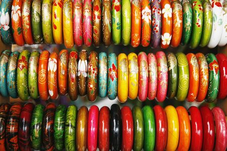 Sets : Colorful bangles at a market stall
