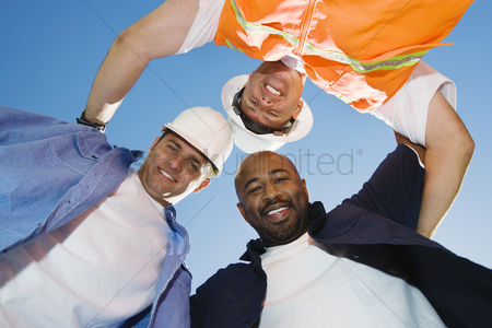 Posed : Construction workers