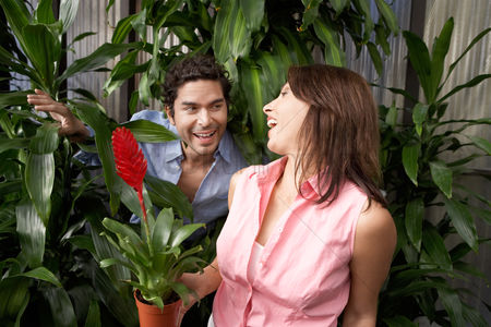 Greenhouse : Couple at plant nursery