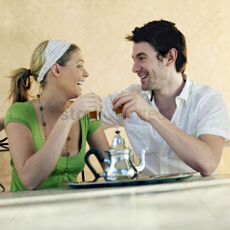 Husband : Couple enjoying their drinks