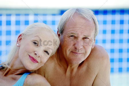 Two people : Couple posing for the camera