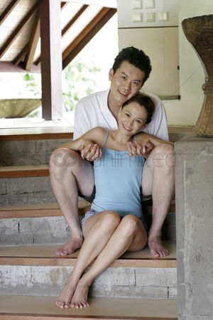 Staircase : Couple sitting on staircase