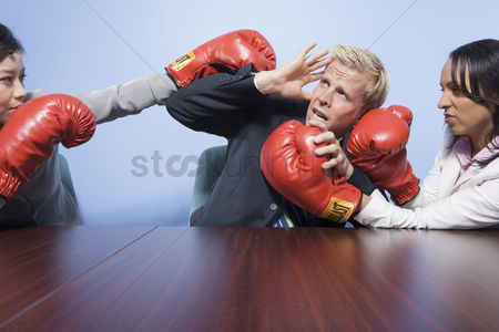 Fight : Coworkers punching each other in office