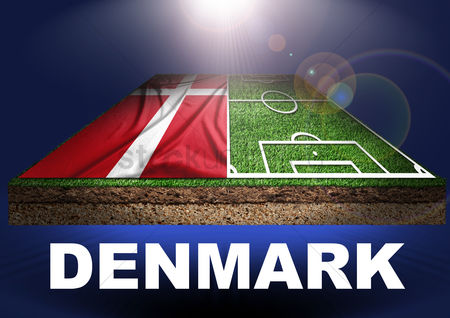 Pitch : Denmark with football field