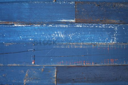 Ideas : Detail of blue wooden wall of a barn