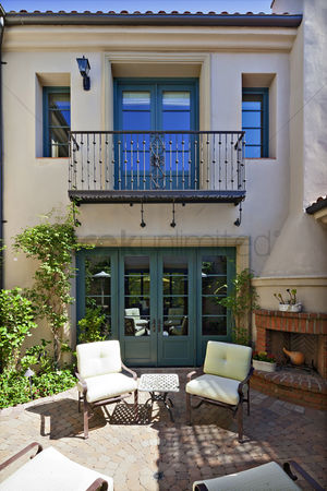 Steps : Entrance to a beautiful mediterranean home exterior