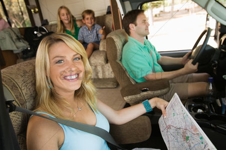 Offspring : Family in rv on summer road trip