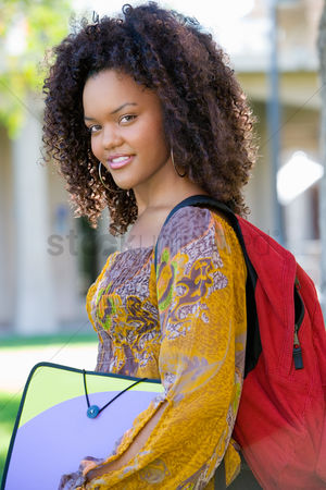 High school : Female student outdoors  portrait